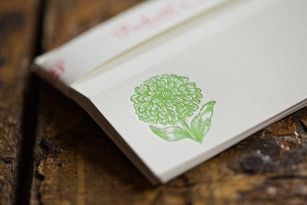 Spring Zinnia Place Cards
