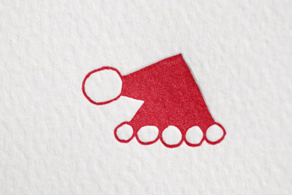 Folded Santa Hat Small Note Cards
