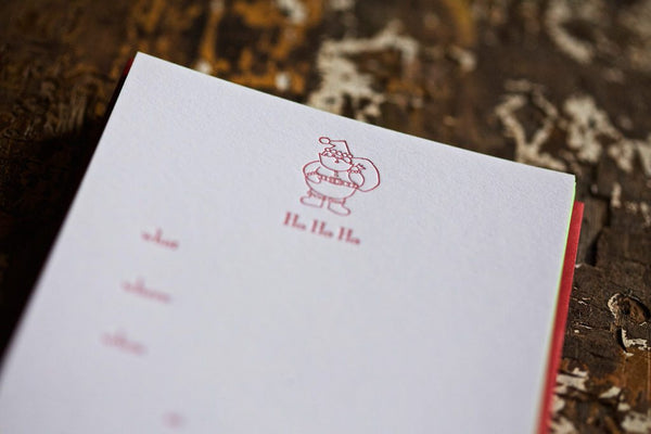 Santa Fill In Letterpress Cards