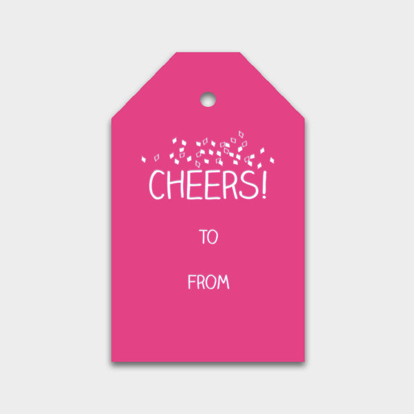 Cheers Letterpress Gift Tag