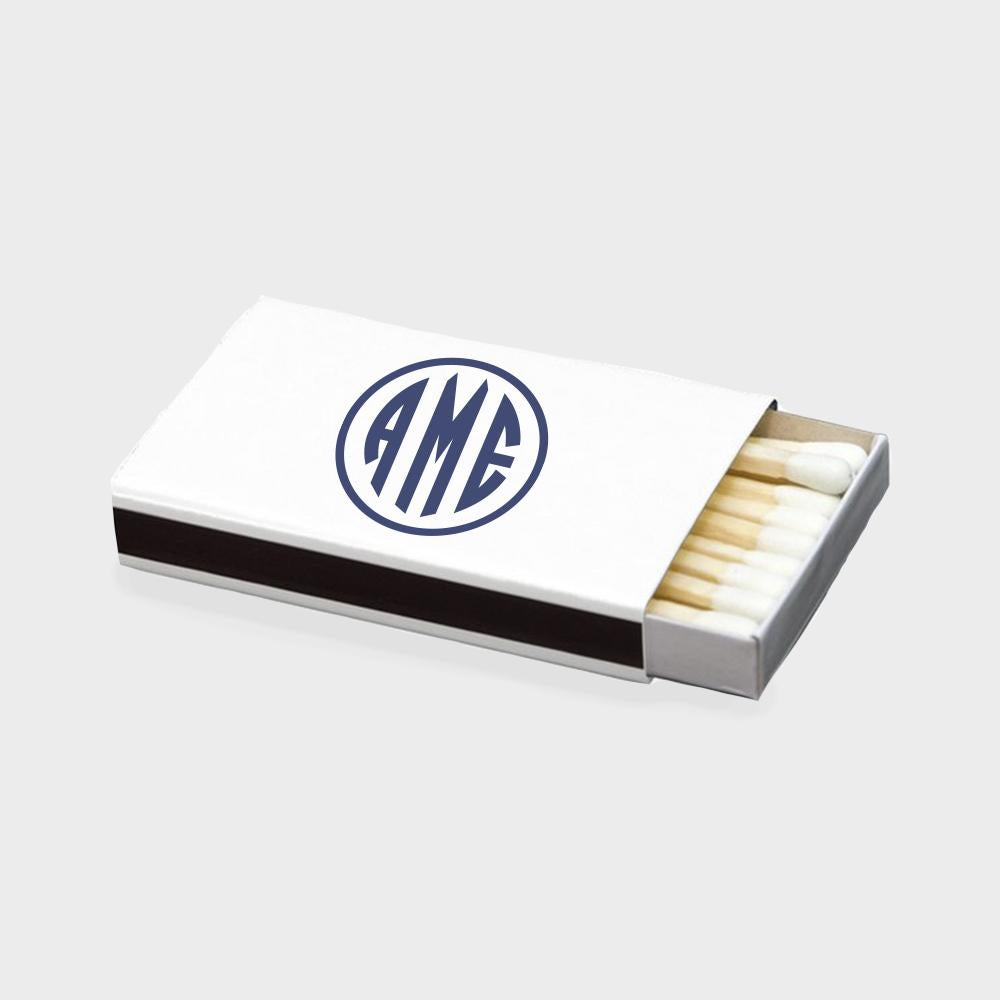 Navy Monogram Matchbox