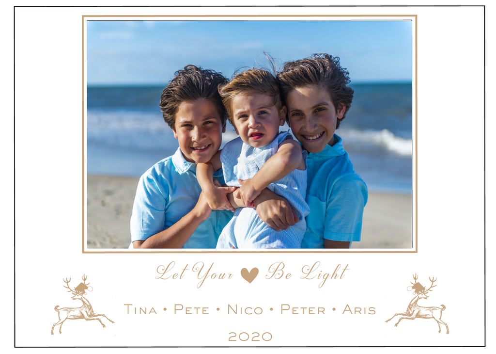Let Your Heart Be Light Christmas Card