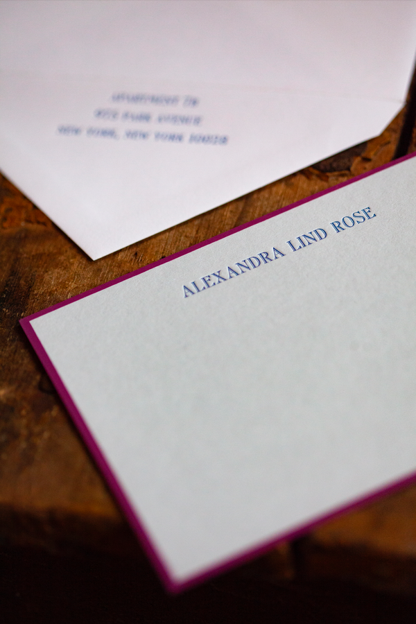 Alexandra Lind Rose Stationery