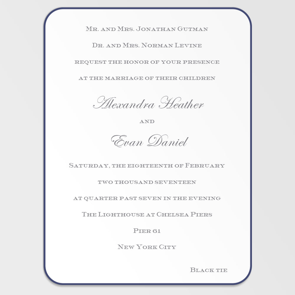 Alex & Evan Wedding Invitation
