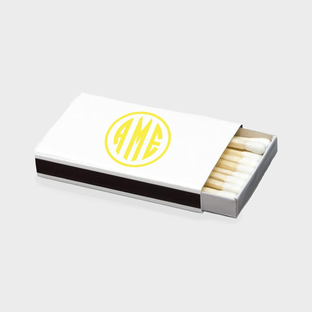 Yellow Monogram Matchbox