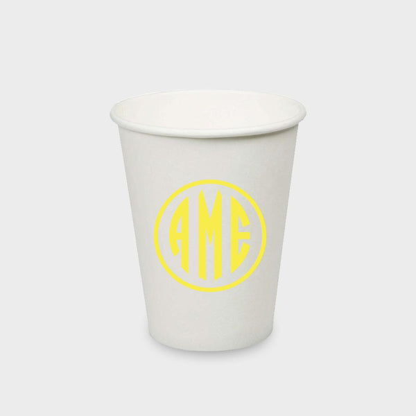 Yellow Monogram Paper Cup