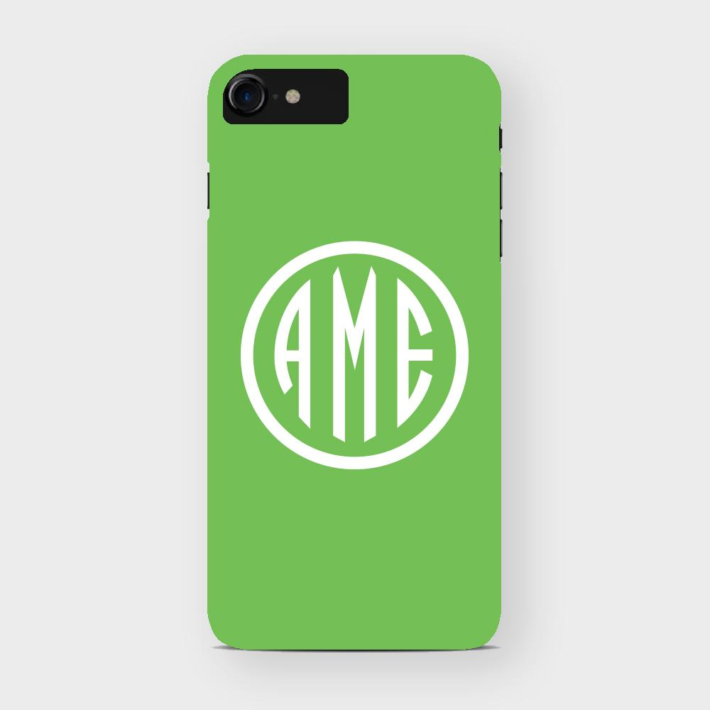 Citrus and White Monogram iPhone Case