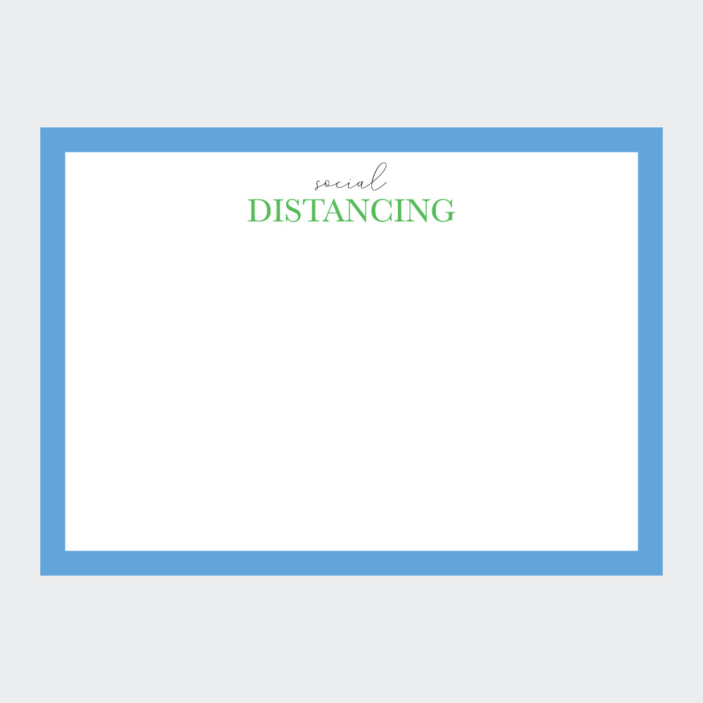 """Social Distancing"" Note Cards"