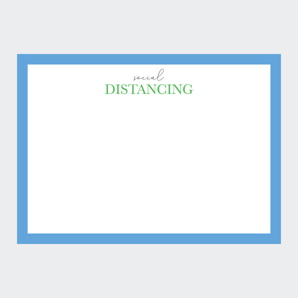 """Social Distancing"" Notecards"