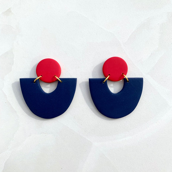 Evora - Navy and Red