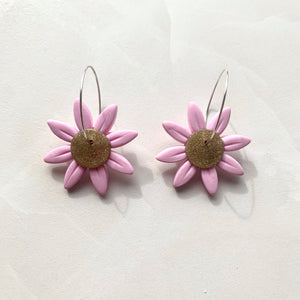 Daisy Dangles - Pink and Gold