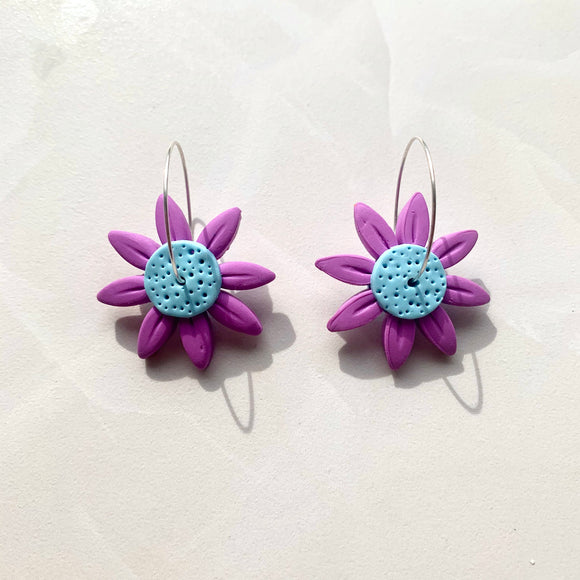 Daisy Dangles - Purple and Blue
