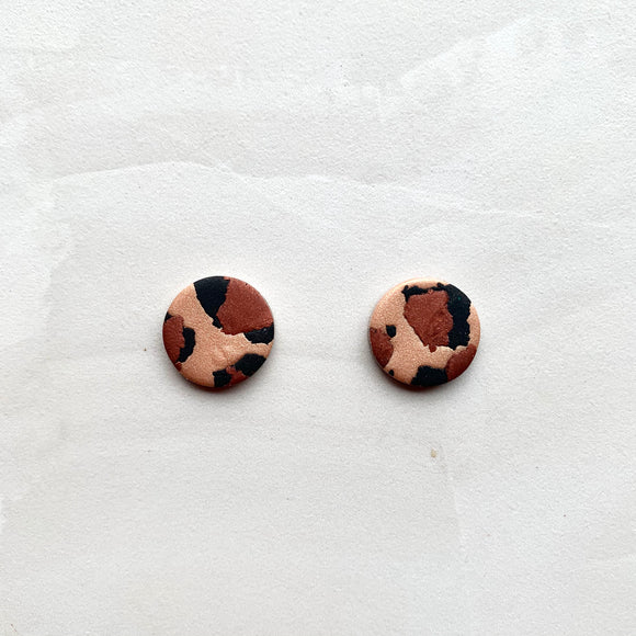 Medium Studs - Bronze Leopard