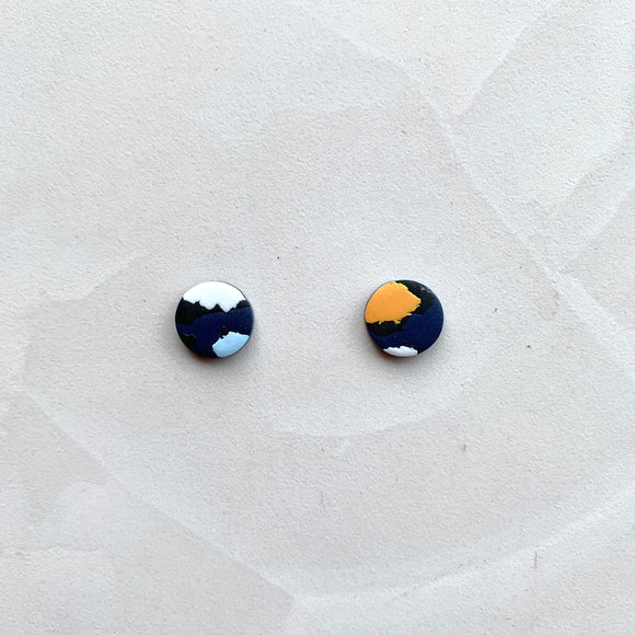 Small Studs - Navy Leopard