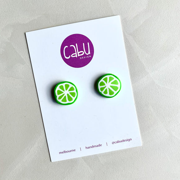 Large Studs - Lime Slices