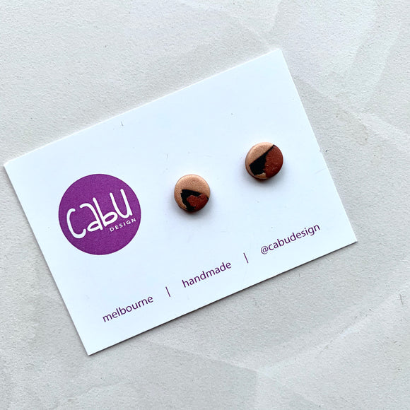 Mini Studs - Bronze Leopard