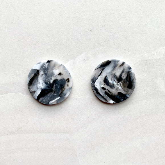 Giant Studs - Black Marble