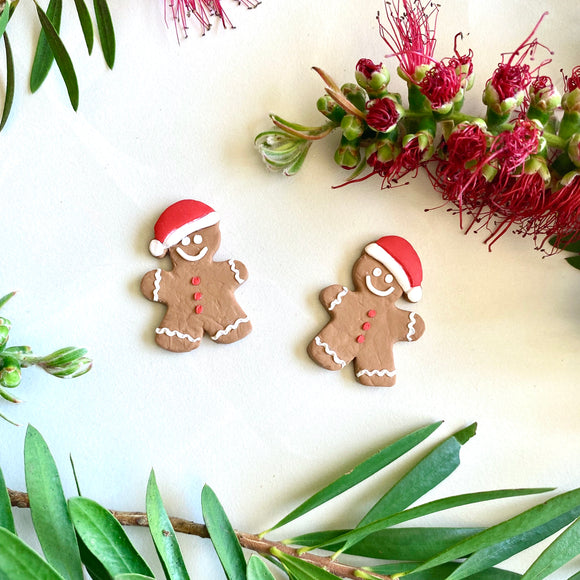 Giant Studs - Christmas Gingerbread Men