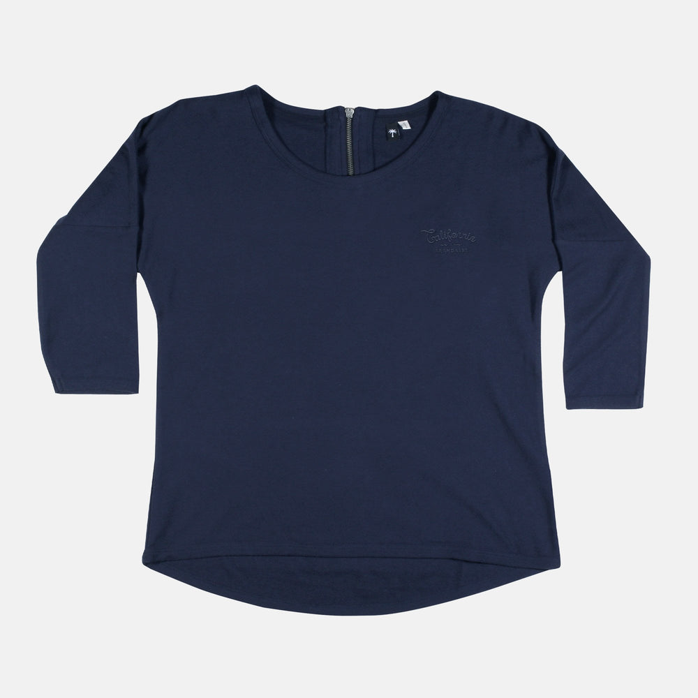 Women Sweatshirt Navy Backzip