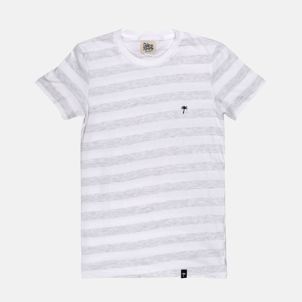 Women T-shirt Gray Stripes