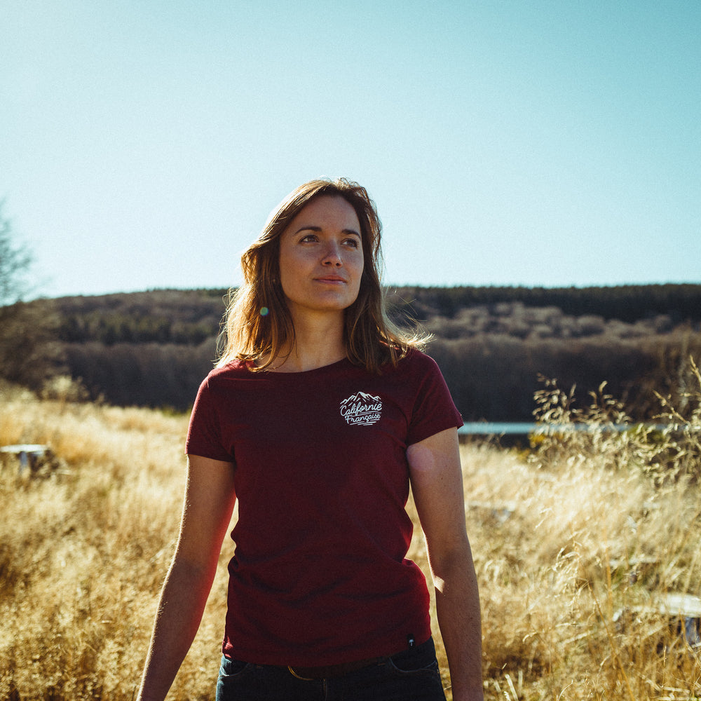 Women T-shirt Peak Burgundy