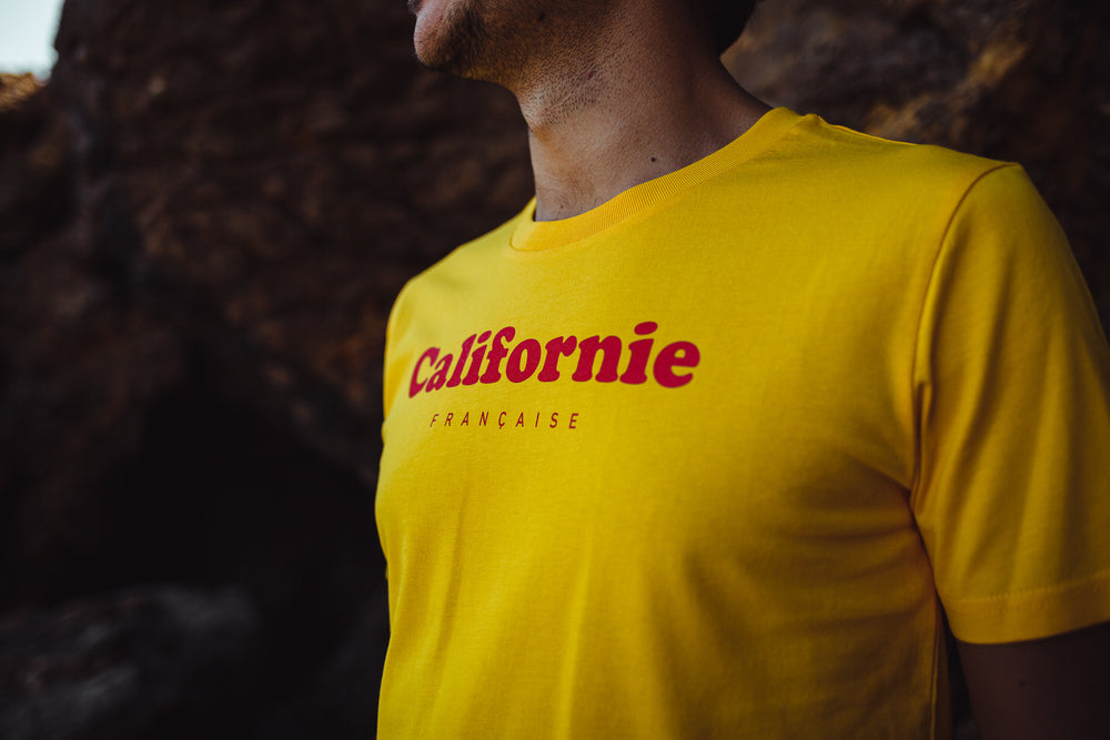 T-shirt Red Logo - Yellow