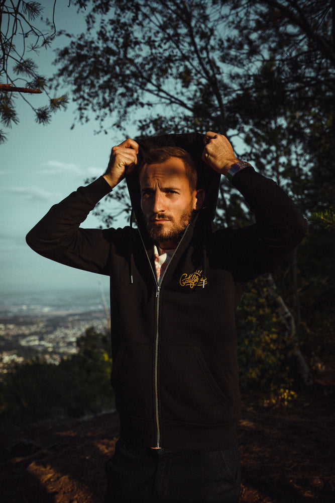 Zipped Hoodie Sunrise Black