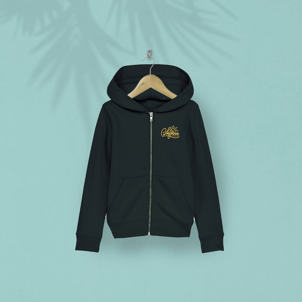 Kids Zipped Hoodie Sunrise Black
