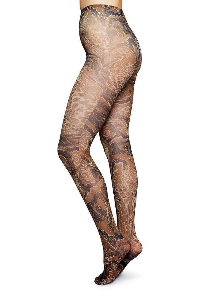 GANNI CHICORY COFFEE TIGHTS
