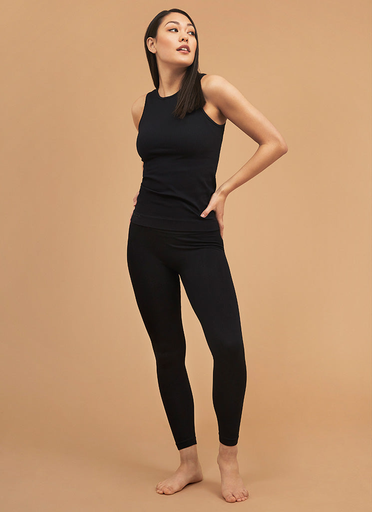 TYRA RIB LEGGINGS BLACK