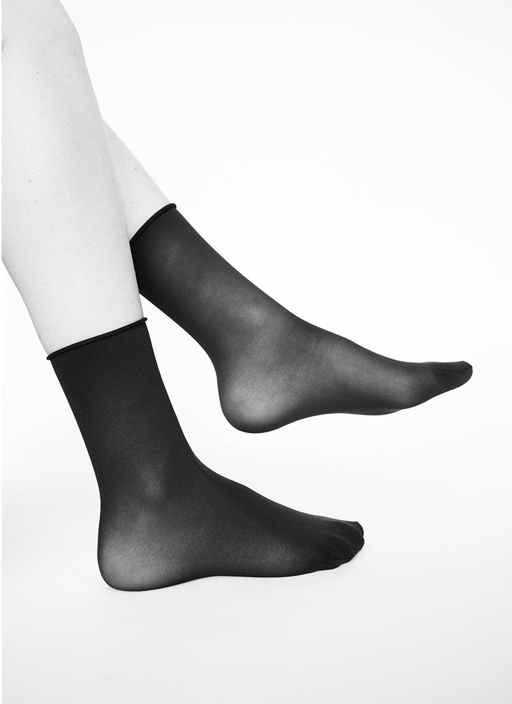 2-PACK JUDITH SOCKS BLACK/BLACK
