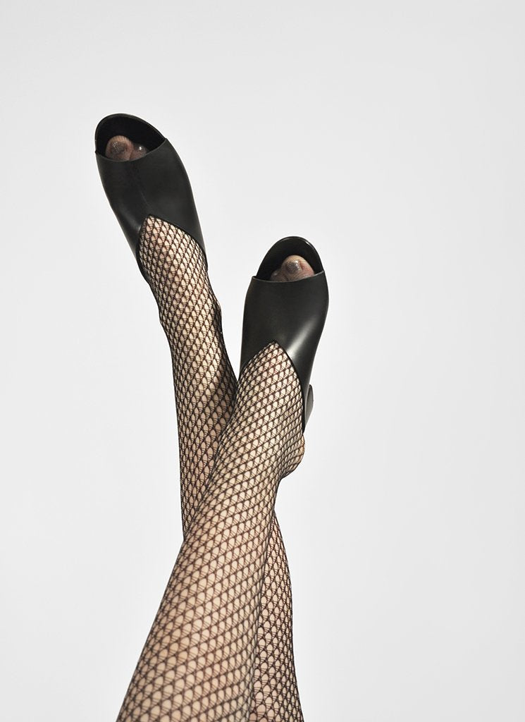 VERA NET TIGHTS BLACK
