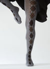 KRISTINA ARGYLE ORGANIC COTTON TIGHTS GREY