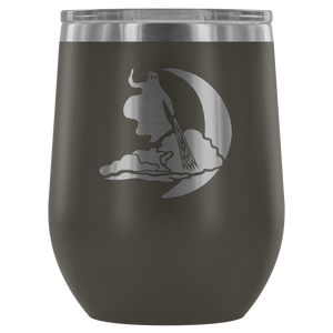 Spooky Etched Wine Tumbler