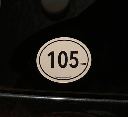 105mm Sticker