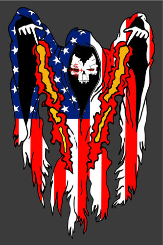 DTA Ghost American Flag T-Shirt