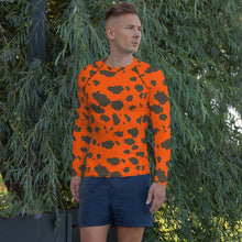 Blaze Orange Frog Skin Men's Rash Guard