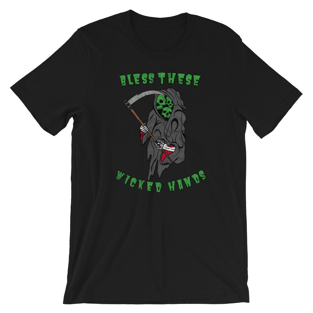 Bless These Wicked Hands Short-Sleeve Unisex T-Shirt