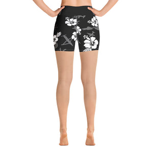 Gunship Hawaiian Yoga Shorts