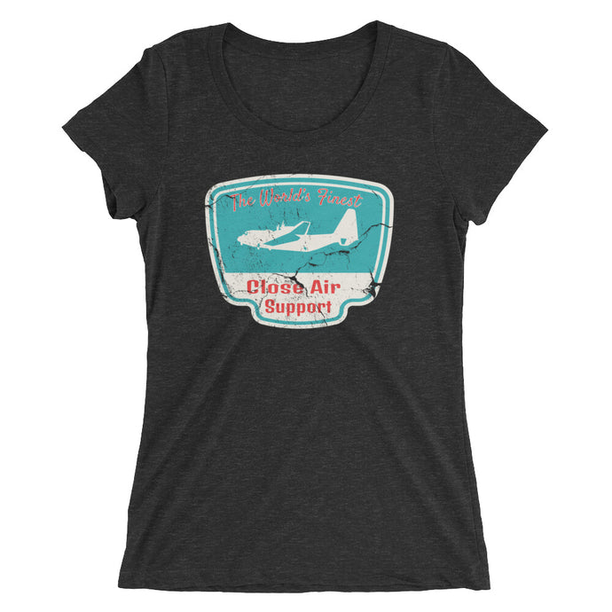 World's Finest Close Air Support Ladies' short sleeve t-shirt