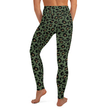 Deadly Leopard Olive Drab Yoga Leggings