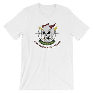 Life's Funner with a Gunner Short-Sleeve Unisex T-Shirt
