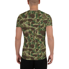 Frog Skin Camo All-Over Print Men's Athletic T-shirt
