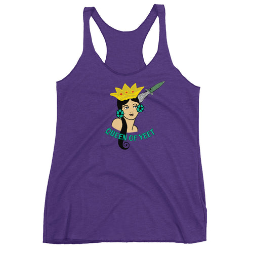 Queen of Yeet Women's Racerback Tank