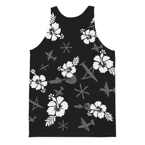 Gunship Hawaiian Black Classic fit tank top