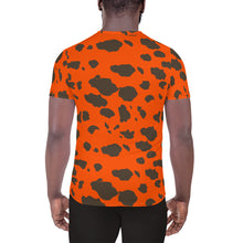Blaze Orange Frog Skin All-Over Print Men's Athletic T-shirt