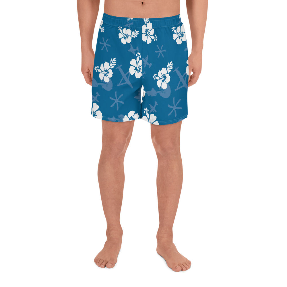 Gunship Hawaiian Men's Athletic Long Shorts