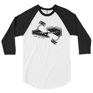 DEATH COMES 3/4 sleeve raglan shirt