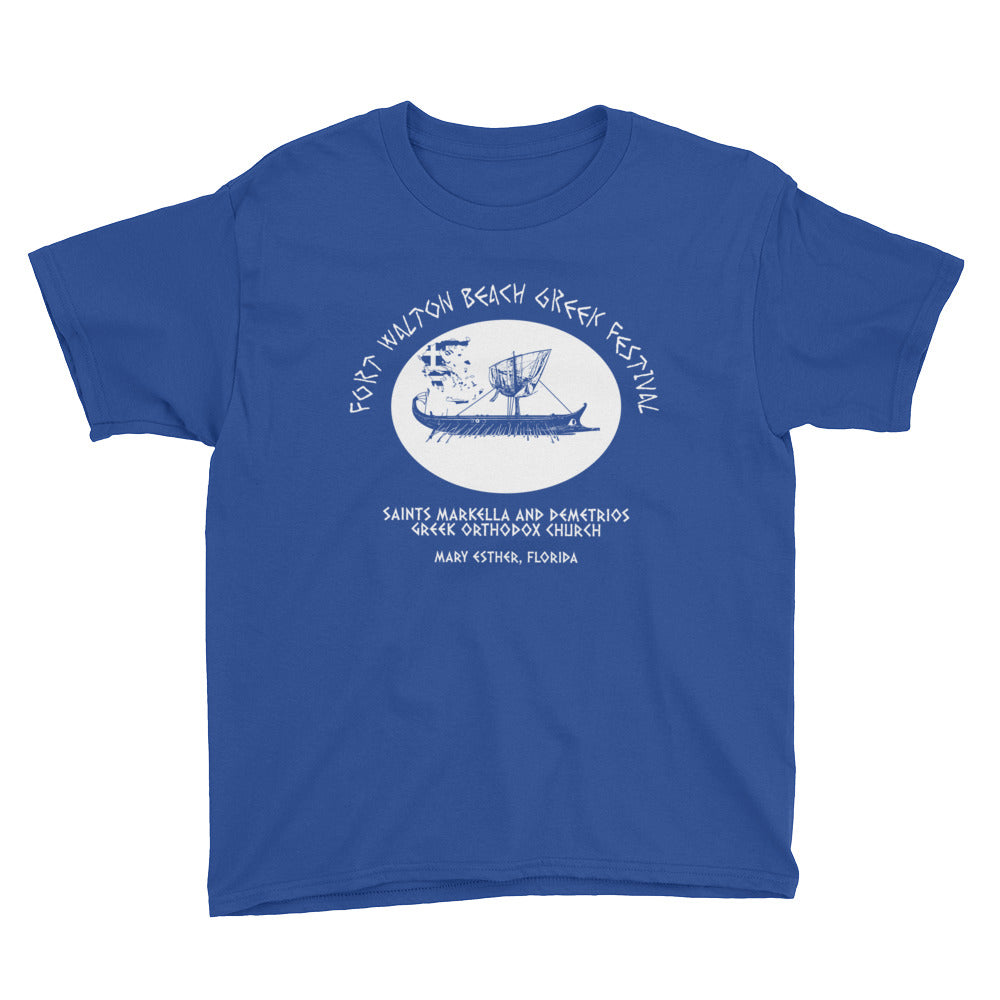 Greek Festival Youth Short Sleeve T-Shirt