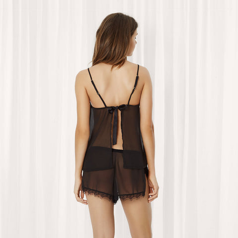 Copper Set aus Camisole-Top und Shorts